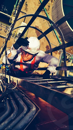 Activities work climb top job engineer crazy adventure  photo