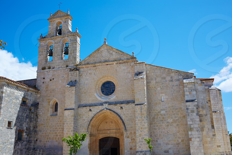 San Juan de Ortega church by the Way of Saint James in Castilla Burgos photo