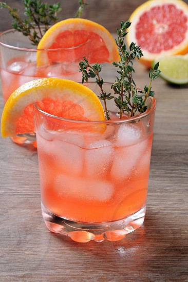 Muddled lime and thyme combined with fresh grapefruit juice and delicious bourbon it's the perfect way to get the most out of those amazing grapefruits. This cocktail is refreshing full of flavour and totally gorgeous – it's the perfect cocktail to serve at any occasion photo