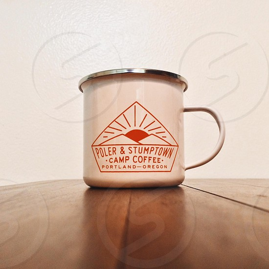 Camping coffee mug photo