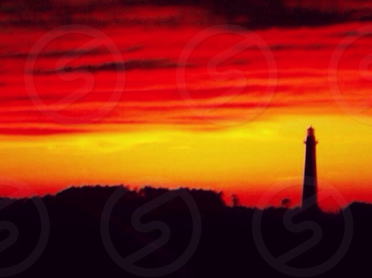 lighthouse silhouette photo