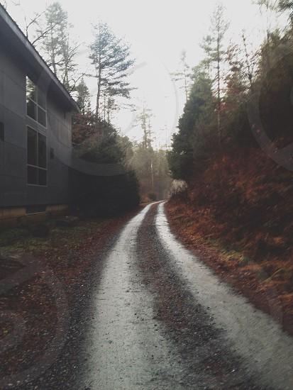 grey panoramic road photo