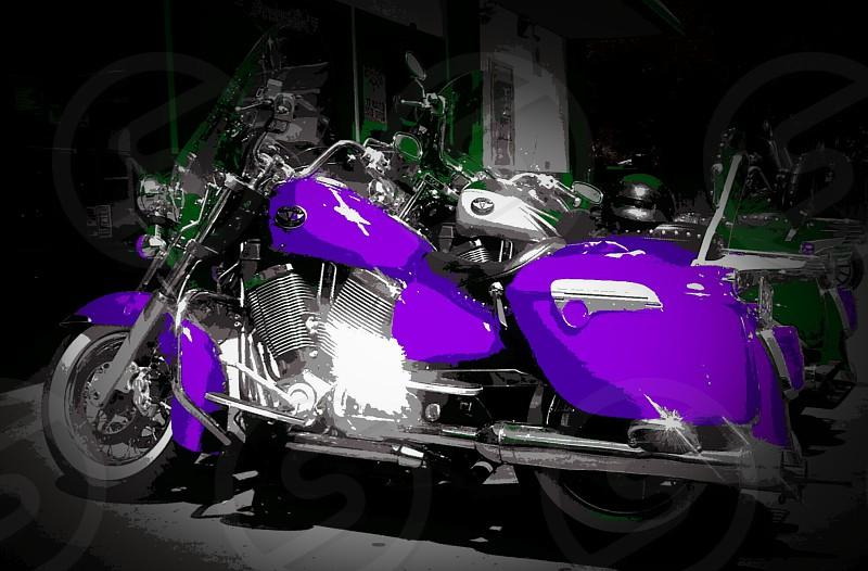 purple passion motorcycle bold vintage kool getaway photo