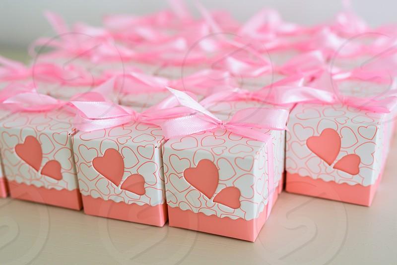 Sugared almonds boxes photo