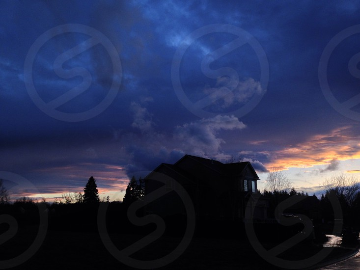cirrus clouds  photo