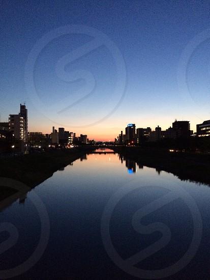 River at Dusk photo