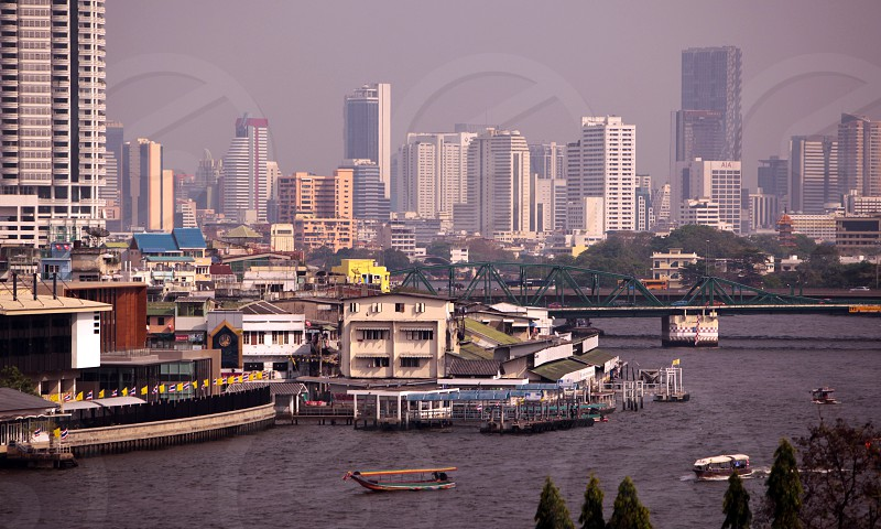 the Mae Nam Chao Phraya river in the city of Bangkok in Thailand in Suedostasien. photo