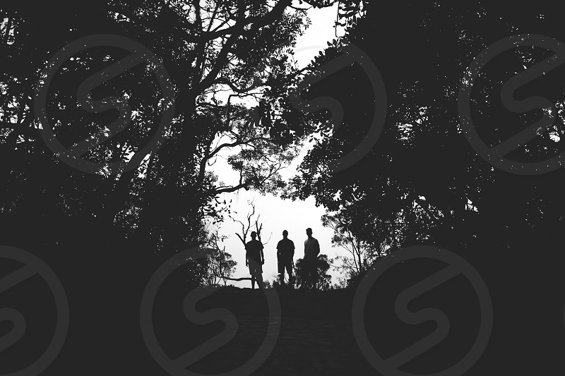 silhoutte travel adventure photo