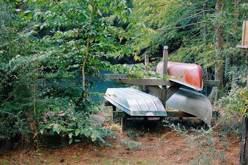 Boat canoe cabin life outdoors wilderness adventure explore Louisiana photo