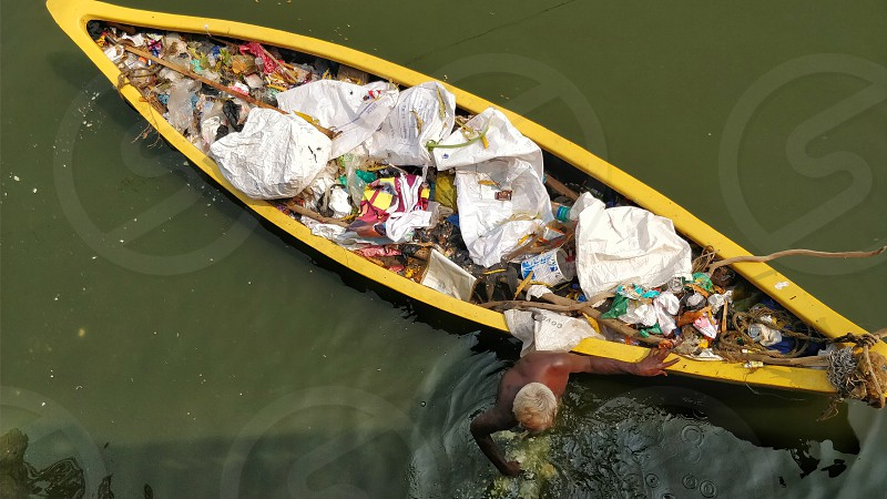 keeping the lake clean: the collector photo