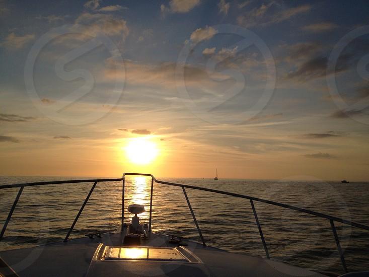 Sunset boat Florida fishing  photo