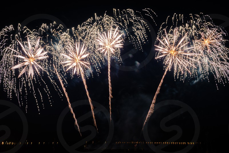 Fireworks in Saratov Russia photo