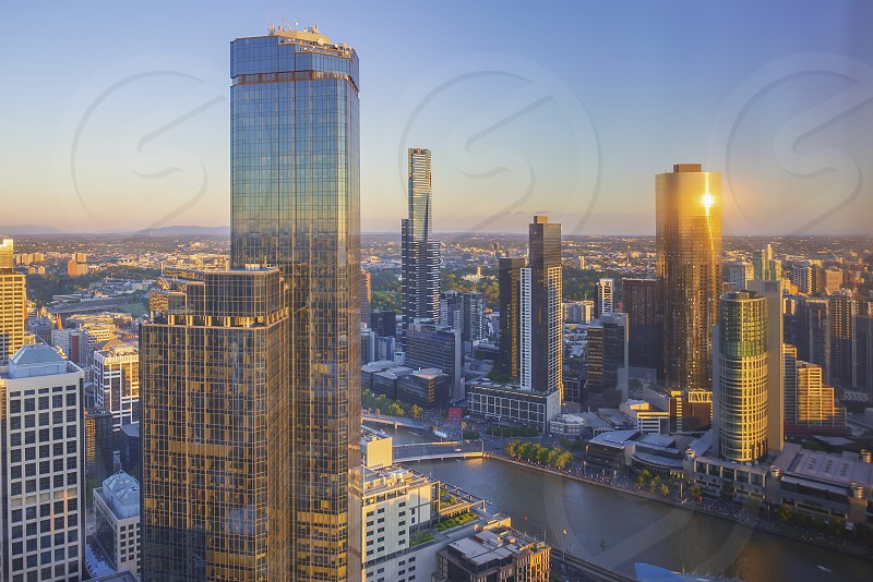 Melbourne city with Eureka Tower photo