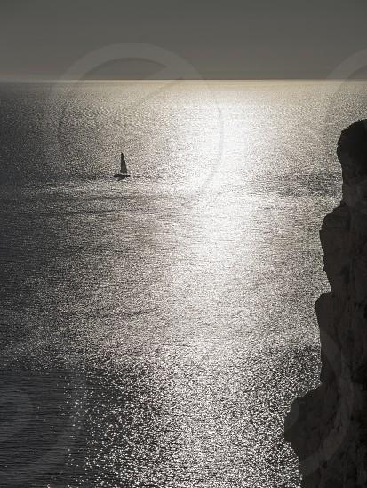 sunset sailing photo