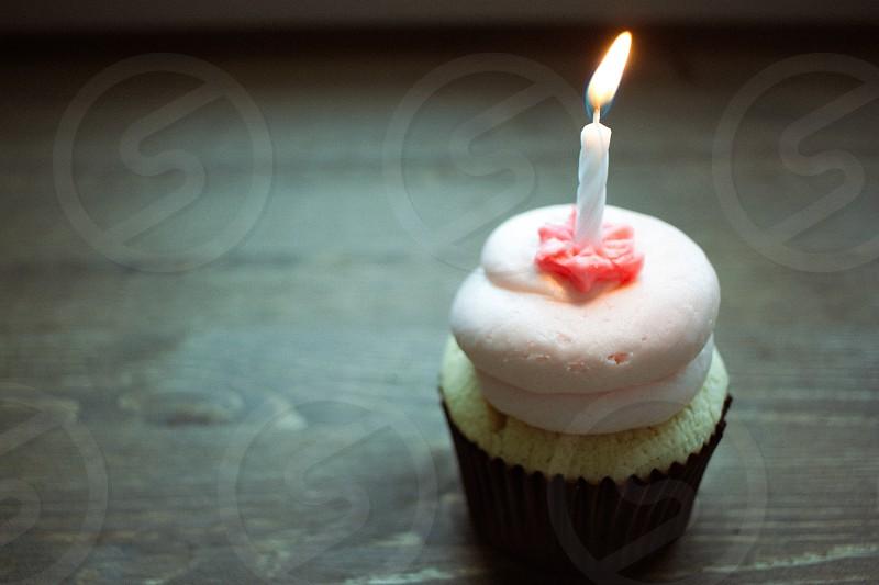 Birthday Cupcake Birthday Candle photo