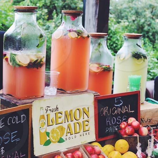 fresh lemonade stand  photo