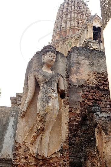 Buddha bodyBuddhistBuddhabodytemplewatbeautifulThailandthaiBuddha standbuildingtraditional photo