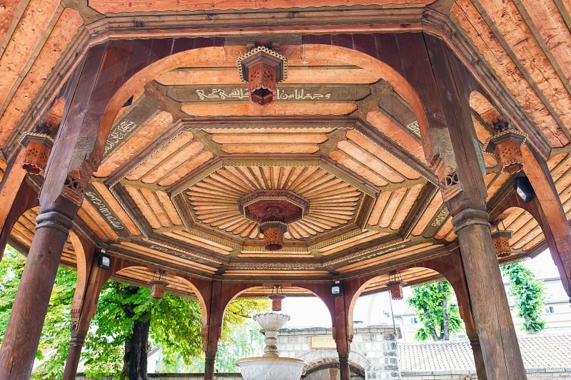 The Gazi Husrev mosque in Sarajevo Bosnia and Herzegovina. photo