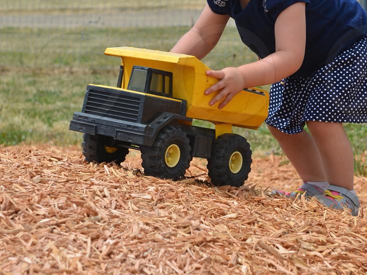 Truck farm girl  photo