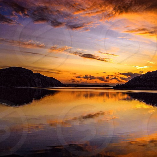 Reflection of the sunset photo