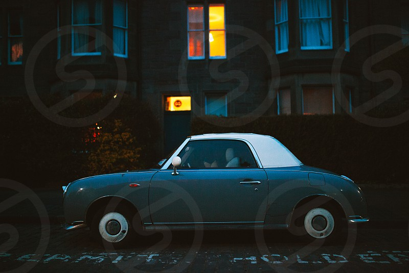 Classic car in the streets of Edinburgh. photo