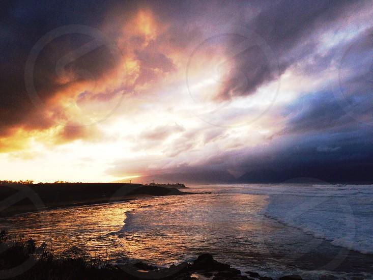 seashore under sunny sky photo