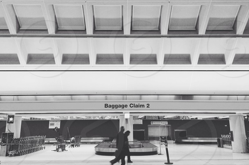 baggage claim 2 sign photo