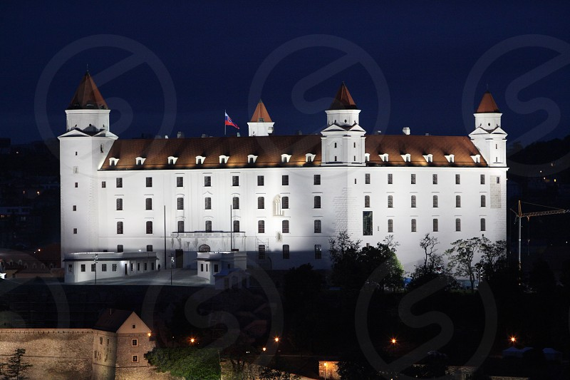 the Fort in the old town of the city  Bratislava in Slovakia in east europe. photo
