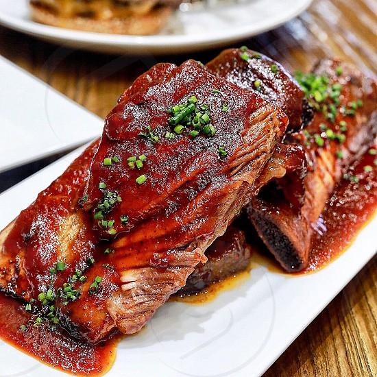 BBQ ribs at Farine Baking company in NYC photo