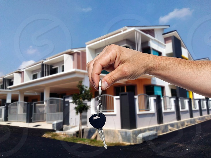 giving house key  photo