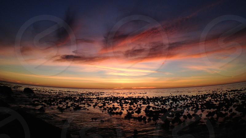 sea sunset view photo
