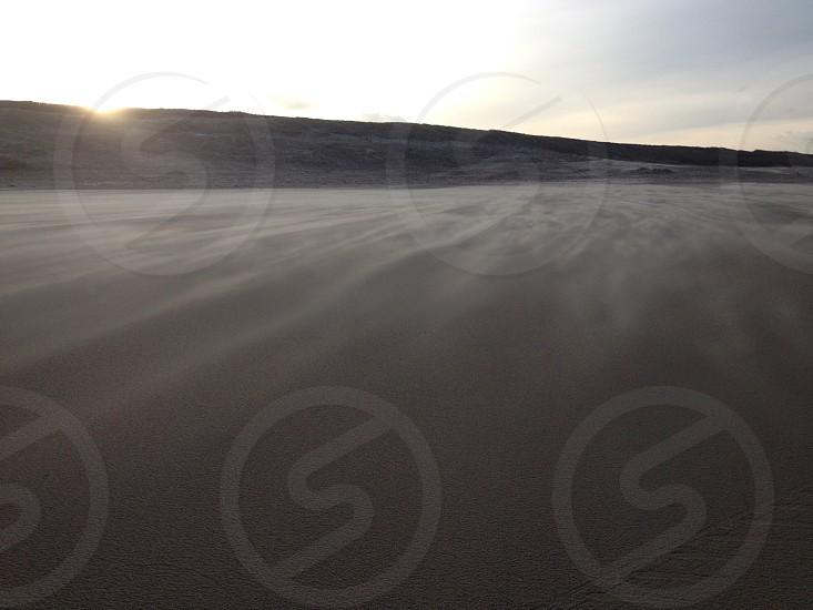 .. morning run on the beach - Wassenaar Netherlands. photo