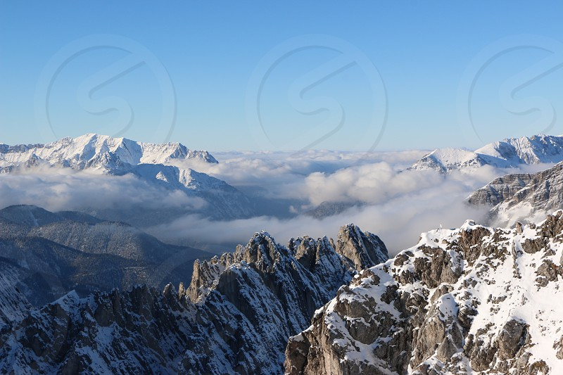View of the alps from the top of the Innsbrucker Nordkettenbahnen photo