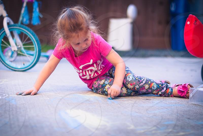 Sidewalk chalk photo