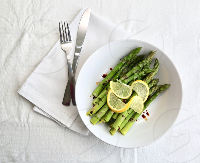 Asparagus and Lemon photo