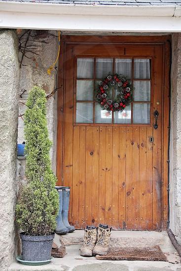 Christmas Cottage Door boots photo