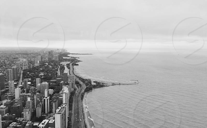 View of Lake Michigan from the John Hancock Tower photo