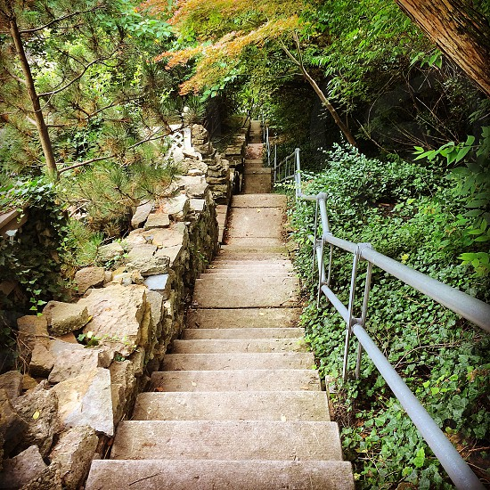 gray staircase photo