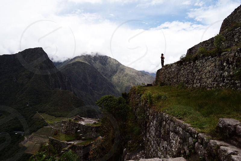 Above Machu Picchu Peru  photo