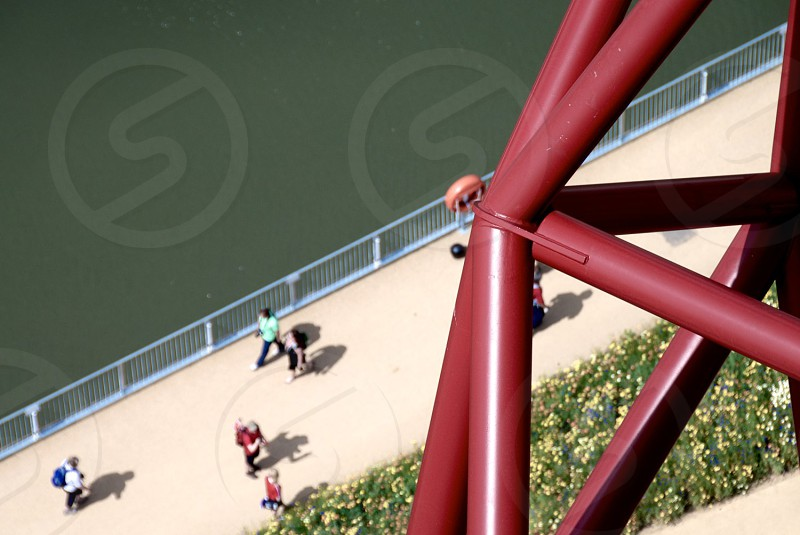 Olympic sculture arial photo