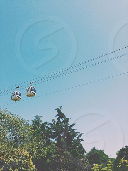2 gray and brown cable carts photo