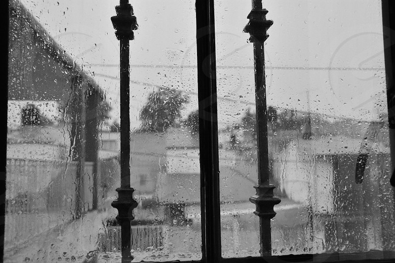 Rainy day at home. Melancholy. Tula Hidalgo México photo