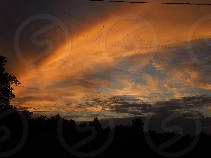 Southern Illinois sunset. photo