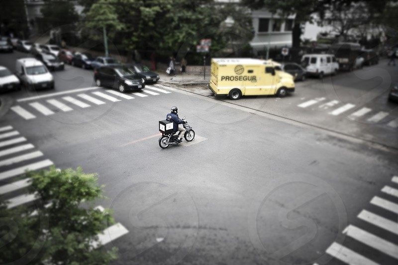 Motorcycle riding on the street  photo
