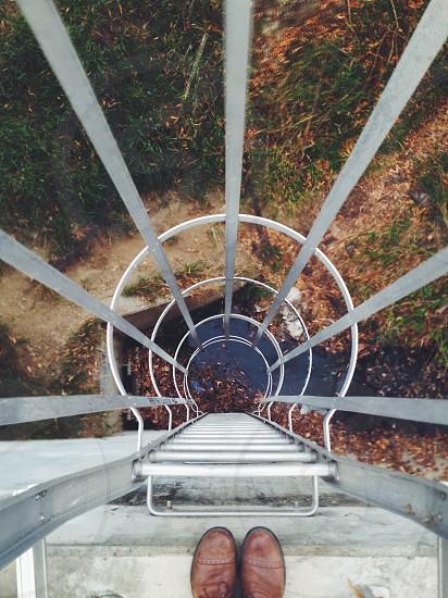 white metal ladder photo