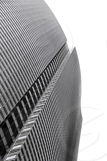 skyscraper black and white building architecture modern abstract geometry urban shape contemporary high photo