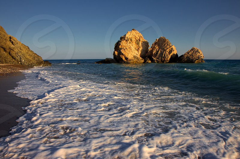 Large Rocks off the Coast of Cyprus photo