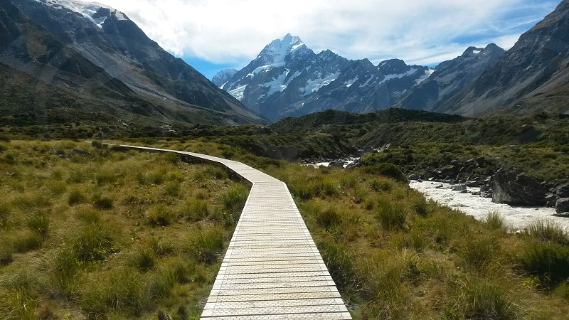 Pathway Aoraki Mt Cook New Zealand photo