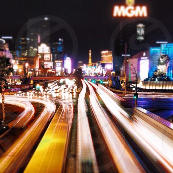 A long exposure in Las Vegas photo