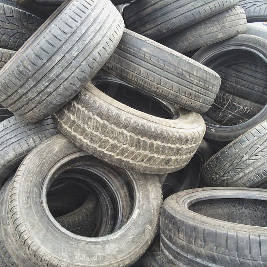 black truck tires photo